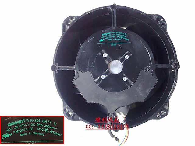ebm-papst W1G 208-BA73-12 DC 48V 96W 250x250x80mm Server Round fan бра odeon light alvada 2910 3w