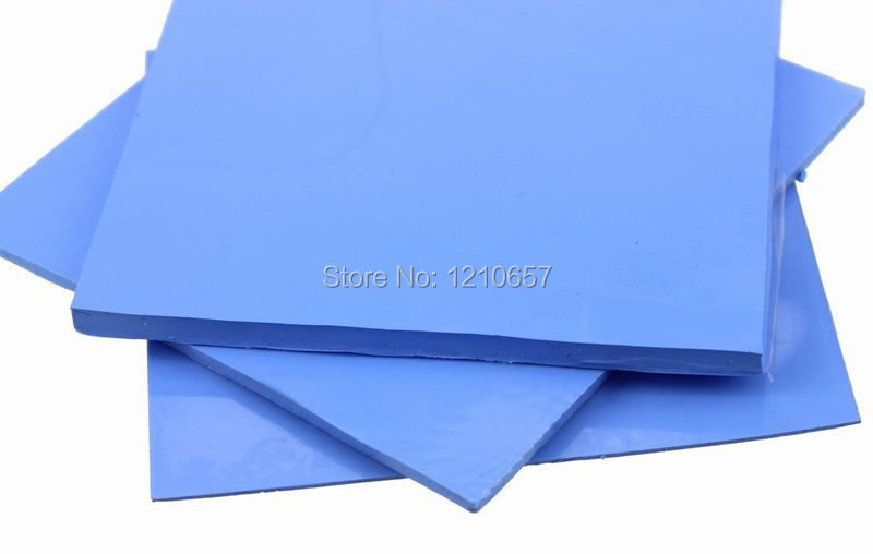 20pieces LOT 100mm x 100mm x5mm 5mm Computer CPU VGA Conductive Silicone Thermal Pads Pad