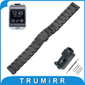 22mm completa ceramic watch band para samsung gear 2 r380/r381/r382 butterfly fivela correia de pulso pulseira cinto + ligação removedor