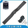 22mm venda de reloj de cerámica completa para samsung gear 2 r380/r381/r382 butterfly correa de hebilla de pulsera pulsera de la correa + enlace removedor
