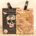 Trip Word Map and Rose Skull Design World Luggage Tag Luggage Compartment Identification Tag PVC Board Check Tag