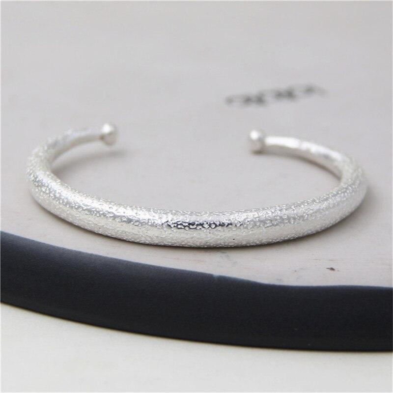 JINSE Thai Argent Bracelets Bracelet Unisexe Style Noble Dignité Terne Poli Fini Bracelet Bracelet Pour Femmes Hommes