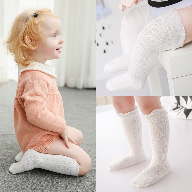 e657c55272455 New arrive baby girls stocking infant Cotton fan mesh lace without bone  pine stocking for 0~12 months