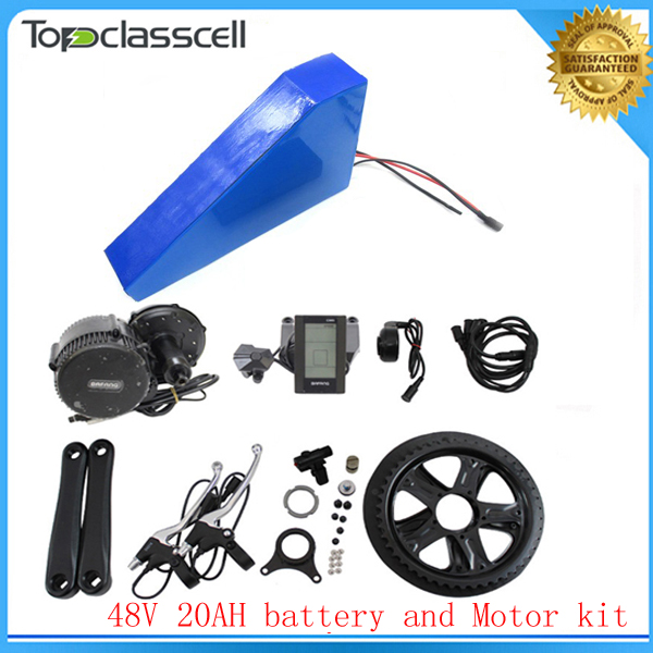 EU No Tax Bafang 8fun BBS002 48V 750W Electric Bicycle Motor kit with ebike battery 48V 20ah triangle electric bicycle battery us eu no tax sanyo cells 48v 14ah rear rack ebike battery with 2a charger for 48v bafang hub motor 750w 8fun bbs02 mid motor