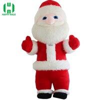 Санта Клаус Надувной Костюм Mascot для взрослых маскарадный костюм 2,6 m 3M USB кабель с Рождество Санта Клаус костюм талисмана с открытыми руками,