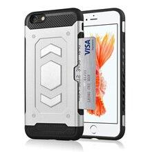 Shock Absorption Anti Skid TPU+PC Car Holder Card Holder Phone Case For iPhone 7 Plus 8 Plus 5.5