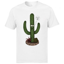 a8f367ad1 Hold Me !Cactus Tshirts 2019 New Arrival Fashion Cotton Tops Tees Round  Collar White Casual Tee Shirts Mens New Tshirts Slim Fit