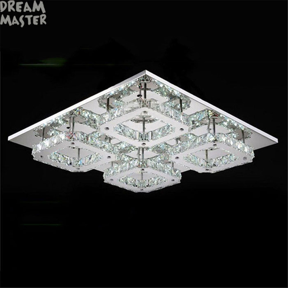 Modern Led Crystal Ceiling chandelier For Living Room luminaria teto cristal led Lamps For Home Decoration square lustre lampsModern Led Crystal Ceiling chandelier For Living Room luminaria teto cristal led Lamps For Home Decoration square lustre lamps