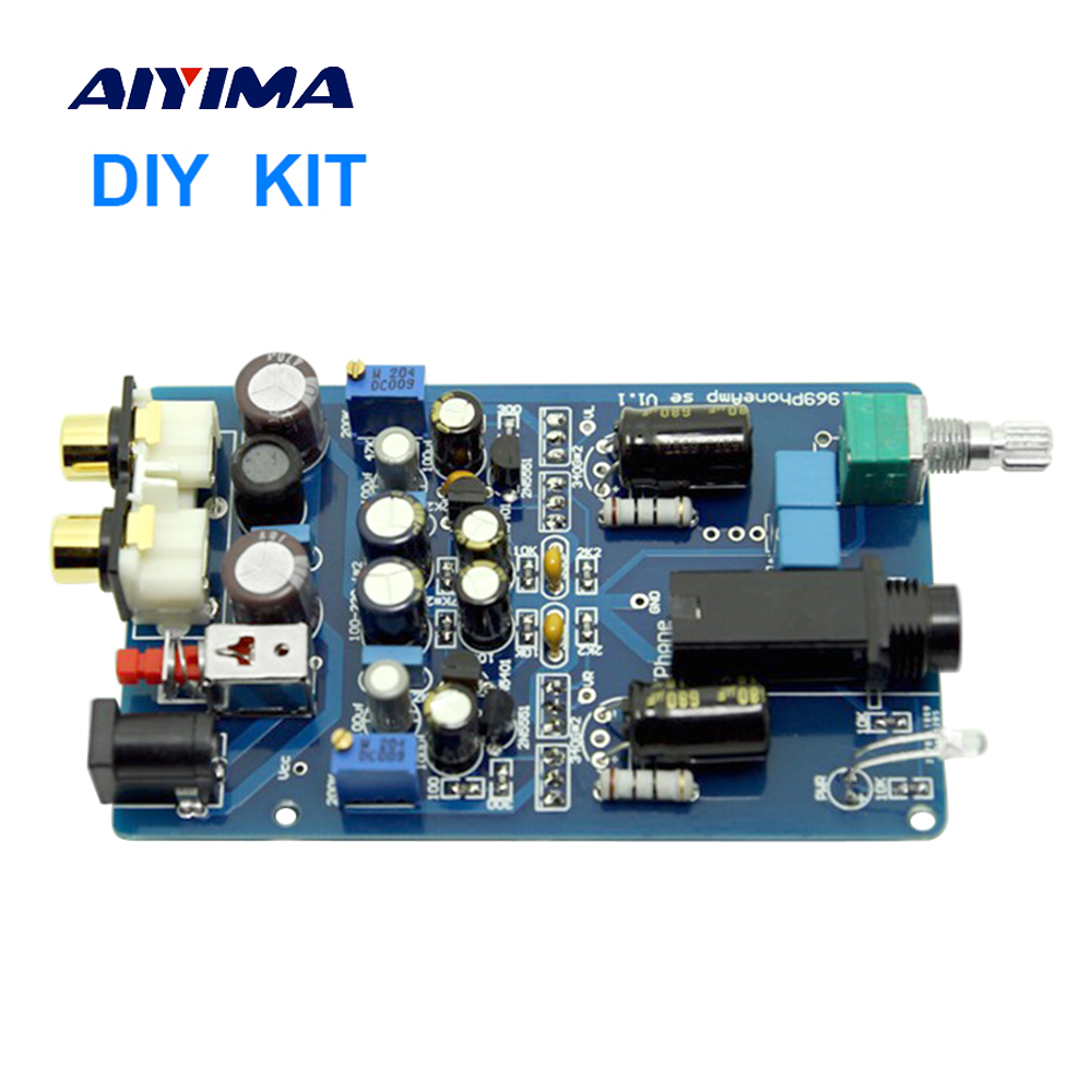 Aiyima Pure Class A Headphone Amplifier Board Amp 1969 Circuit Audio Diy Kits For Hd600 K701 In From Consumer