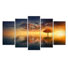 Decoration Modern HD Printed 5 Pieces/Set Painting Modular Picture Canvas Art Framework Wall For Living Room Abooly