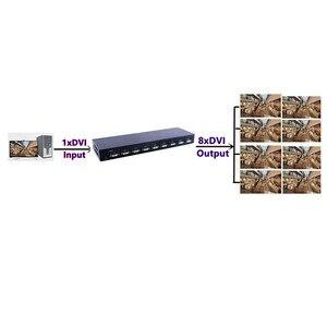 Image 4 - 8 ポート Dvi スプリッタ、デュアルリンク DVI D 1 × 8 スプリッタアダプターディストリビュータ、メスコネクタ 4096x2160 5VPower Cctv モニターカメラ
