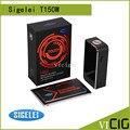 100% Оригинал Sigelei T150 Окно Мод Сенсорный экран Высокой Паропроницаемости Touch Box T150w Sigelei Mod