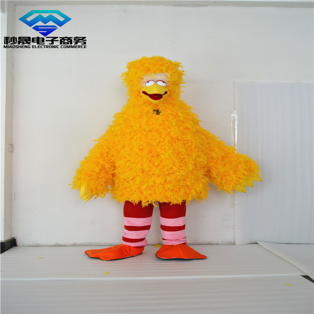 Speaking, opinion, Adult big bird costume