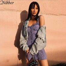 Nibber Summerpurple elegant off shoulder mini dress woman 2019 spring ladies evening club party office lady Casual short dress