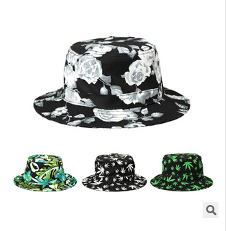 2015 New Casual Print women men bucket hats hip hop summer outdoor polo hat  fisherman graffiti caps Bob safari hat boonie hat c26f1f07863