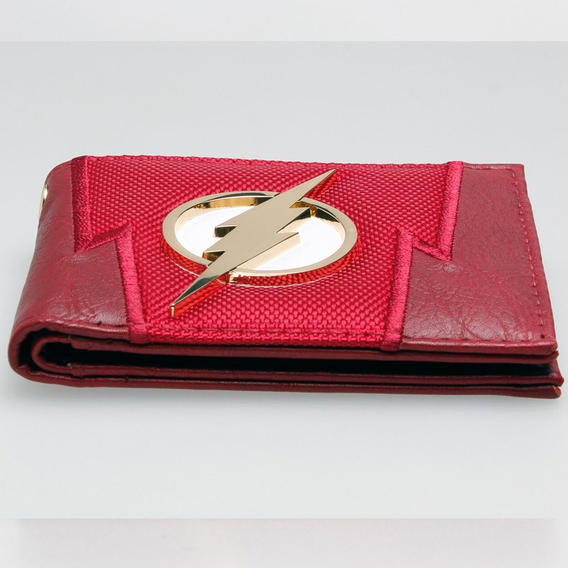 f569cca52d US $9.86 23% OFF|The Flash Red embroidered Metal badge Bifold Men Wallet  Women Purse DFT 1875-in Wallets from Luggage & Bags on Aliexpress.com | ...