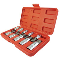 10PC Hex Bit Socket Set Metric Sze 3 8 1 2 Drive Hex Key Allen Head