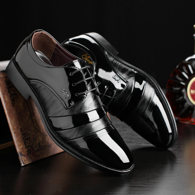 Shoes 2018 New Fashion Style Designer Formal Mens Dress Shoes Genuine Leather Luxury Wedding Shoes Men Flats Office Shoes Lc9982-8803