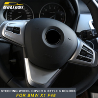 Gelinsi For BMW F48 X1 2016 2017 2018 Steering wheel cover trim Sticker Cover Interior Accessories Auto Car styling