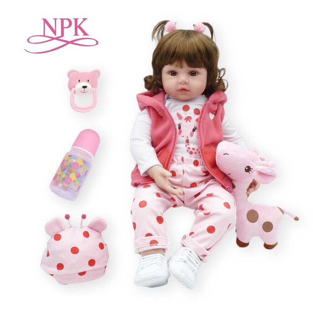 Bebes reborn poupée 47 cm silicone souple reborn bambin bébé poupées com corpo de silicone menina noël surprice cadeaux lol poupée