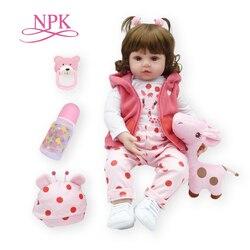 Bebes reborn boneca 47cm silicone macio reborn da criança do bebê bonecas com corpo de silicone menina presentes de natal surprice boneca