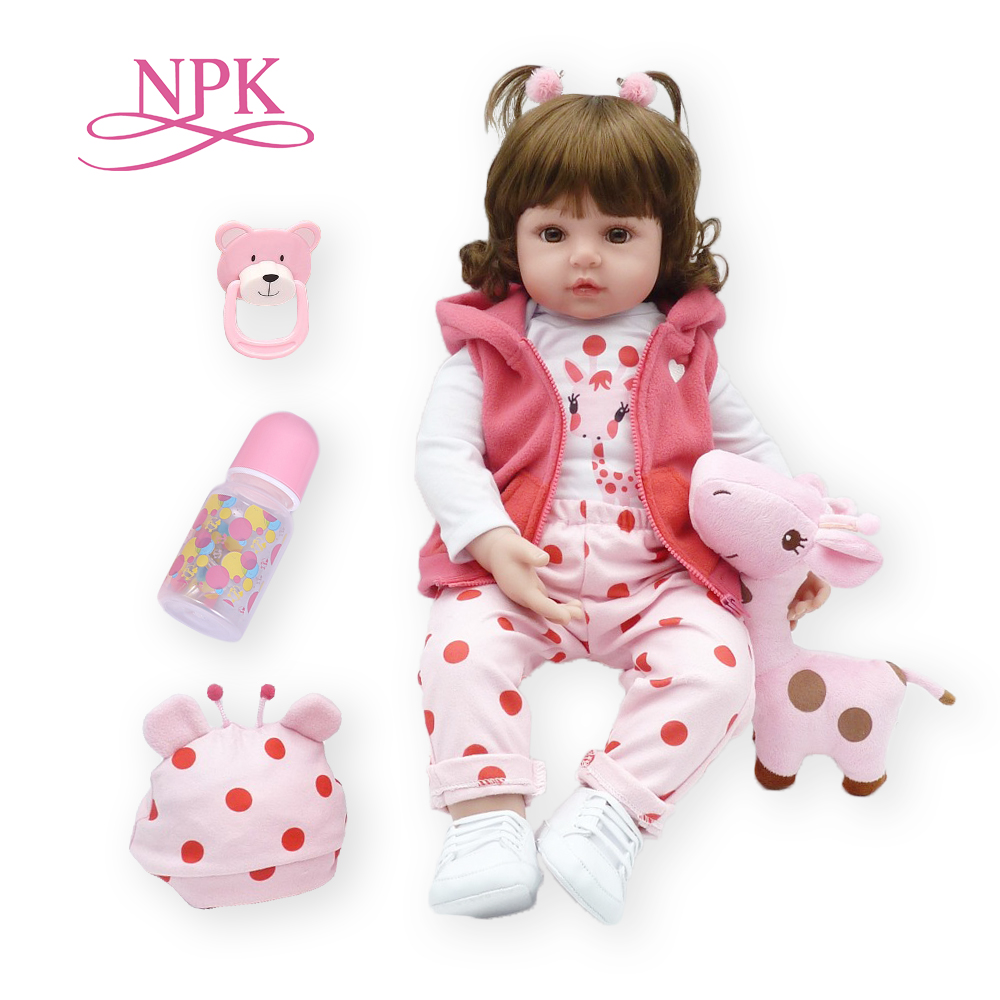 bebe doll reborn toddler 47cm soft silicone reborn baby dolls soft body lifelike menina Christmas surprice girl gifts doll(China)
