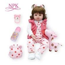 Bebes reborn muñeca 47 cm suave de silicona renacer muñecas del bebé com corpo a corpo de silicona niña muñecas del bebé regalos de Navidad. muñeca sorpresa
