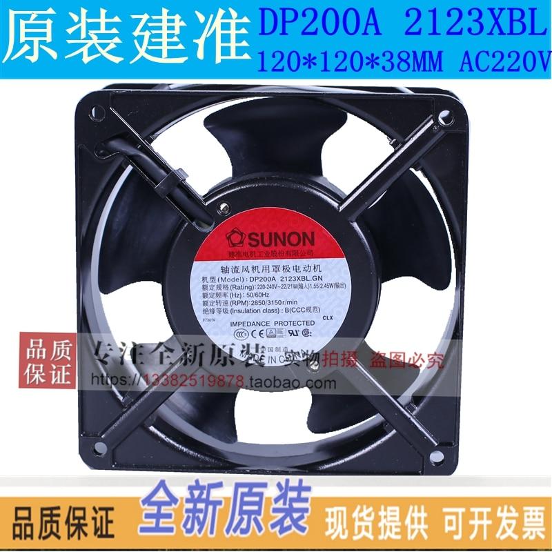 SUNON DP200A 2123XBL.GN AC 220V 120X120X38mm Server Square Fan sunon ac 220v aluminum cooling fan 120 x 120 x 25mm computer