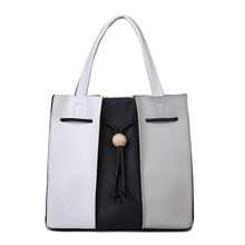 Contrast Color Women Tote Bag High Quality Designer Bag Leather Women's Patchwork Handbags Famous Brand Sac a Main Femme Luxe