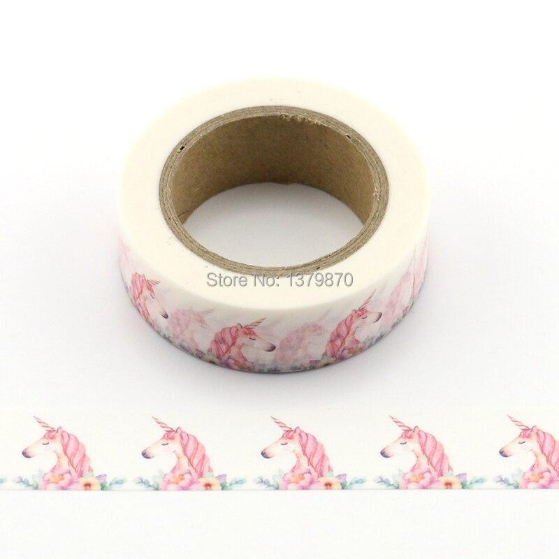 10m Decorative Unicorn Printing Washi Tape Diy Scrapbooking Photo Album School Scrapbooking Tools Kawaii Paper Stickers Mask
