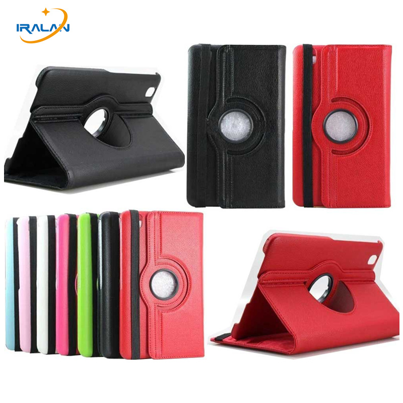 3 in 1 High Quality 360 Rotation PU Leather Stand Case For Samsung Galaxy Tab Pro 8.4 T325 T321 SM-T320+free gift Stylus Pen