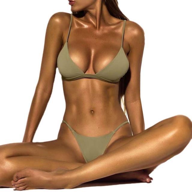 25b79dfbac 2018 women bikini Sexy Swimwear Sports Swimsuit Brazilian Micro Bikinis  Women Bikini Deep Monokini Push Up