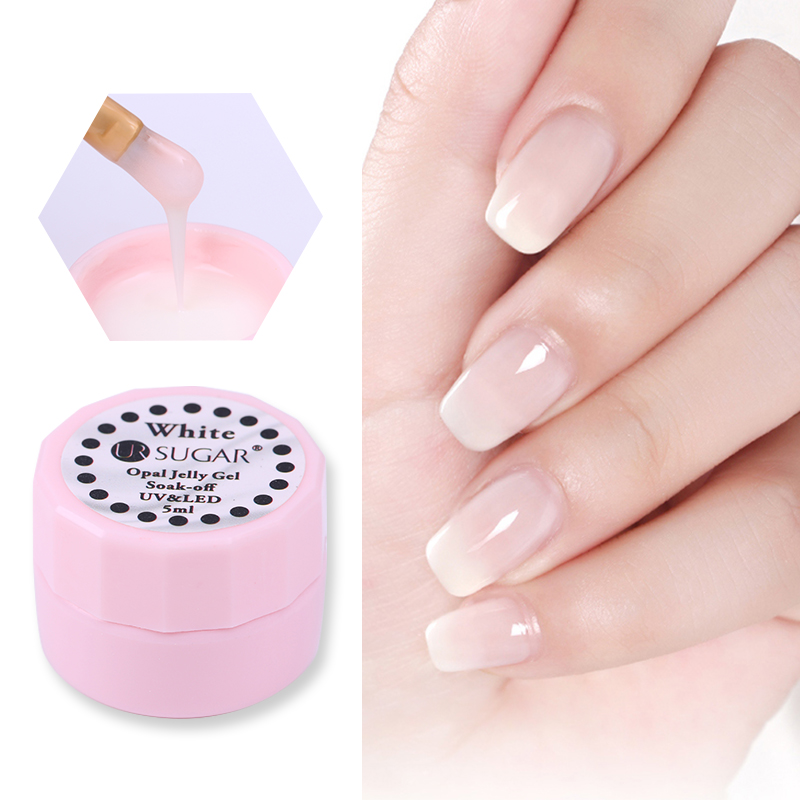 URUGAR BLANCO Opal Jelly Gel 5ml Semitransparente Soak Off Nail Art UV Gel Polish Manicure UV Barniz
