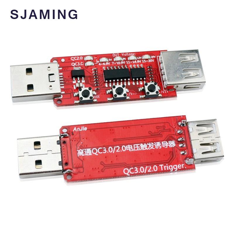 Qualcomm QC2.0 / qc3.0 tester detecta automáticamente el simulador del medidor de voltaje de carga rápida del teléfono Trigger 9V / 12V / 20V Tablero de prueba de envejecimiento