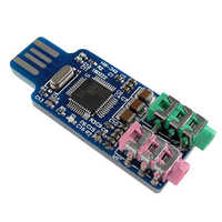 Free driver USB Sound Card CM108 USB Sound Card Chip Blue