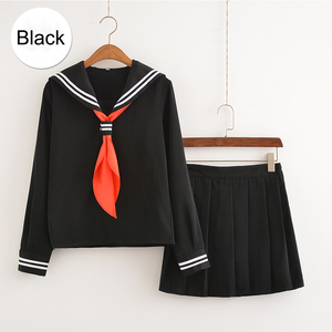Image 4 - My Hero Academia Cosplay Costume Anime Boku no Hero Academia Cosplay Himiko Toga JK Uniforms Women Sailor Suits with Sweaters