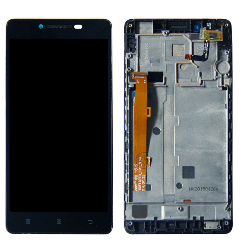 For Lenovo A6000 LCD Display Touch Screen Digitizer Assembly Replacement With Frame For K30-T Mobile Phone LCD 5.0