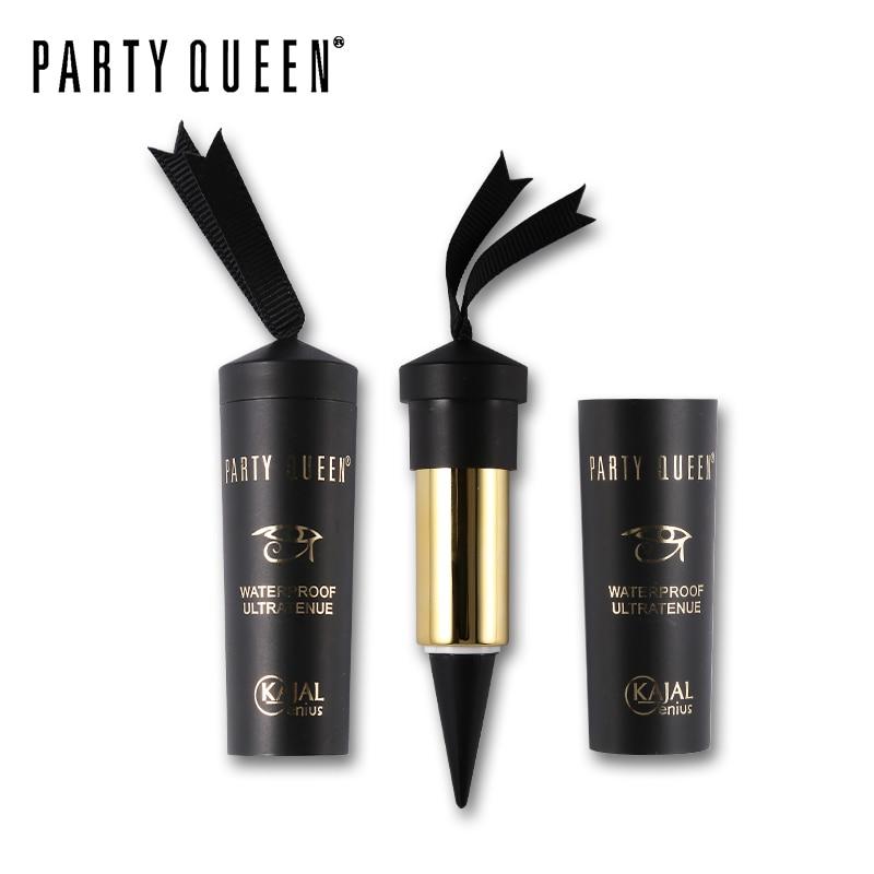 Party Queen Eye Enhancing Black Kajal Eyeliner Stick Solid Thick Eyeliner Gel Makeup Smooth Waterproof Natural Smoky Eyes Liner