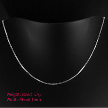 KASANIER 2018 New Fashion Real Pure 925 Sterling Silver Stamp Chain Box Necklace 16-24 inches Silver Thin Chain Women Jewelry(China)