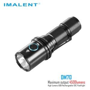 Image 2 - IMALENT DM70 懐中電灯 CREE XHP70.2 最大 4500 ルーメンビーム距離 306 メートルハンドヘルドトーチ + 21700 5000mAh 充電式バッテリー