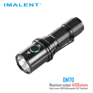 Image 2 - IMALENT DM70 linterna CREE XHP70.2 max 4500 lumen distancia de haz 306 metros antorcha de mano + 21700 5000mAh batería recargable
