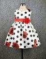 print baby girls dot dress casual infant girl flower dresses toddler clothing high street