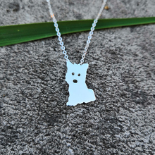 30a1958149 SanLan West Highland Terrier Dog Necklace Puppy Charm, Gift For Dog Lover (China)