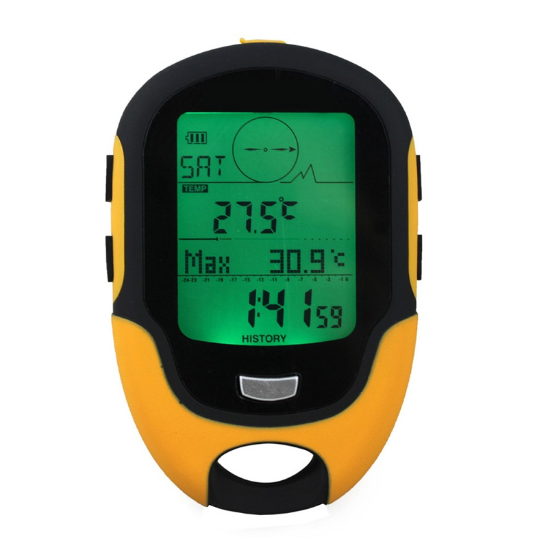 FR500 Multifunction Altimeter LCD Digital Compass Portable Outdoor Camping Travel Altimeter Barometer Thermometer Hygrometer