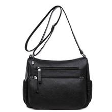 High Quality PU Leather Women Messenger Bags for Women 2018 Shoulder Bags Double Zippers Ladies Crossbody Bags Bolsa Feminina стоимость