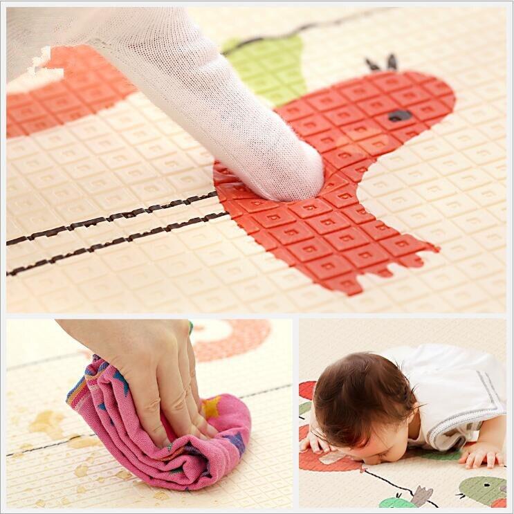 Tapis de jeu rampant pour bébé épaissir la Protection de l'environnement tapis de mousse pour enfants couverture de jeu humidité XPE bébé tapis d'escalade cadeaux - 3