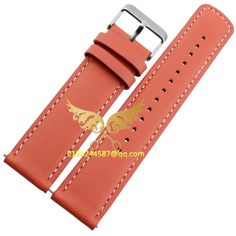 The new 22mm Men Genuine Leather Watch Band Strap Bracelets With stainless steel Buckle replace suunto