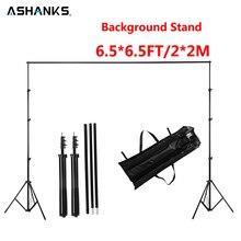 Ashanks Hintergrund Stehen Verstellbare Hintergrund Unterstützung für Video Fotostudio Zubehör 6.5Ft Musselin Stativ Rahmen