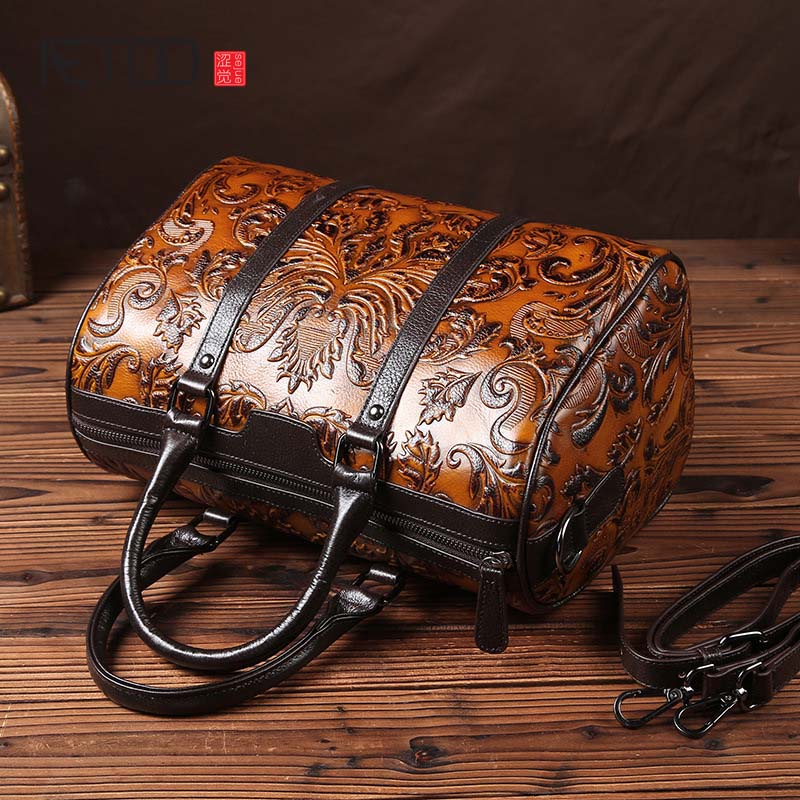 AETOO brand New retro European and American leather handbag first layer of hand - wiping color shoulder bag leisure handbagAETOO brand New retro European and American leather handbag first layer of hand - wiping color shoulder bag leisure handbag