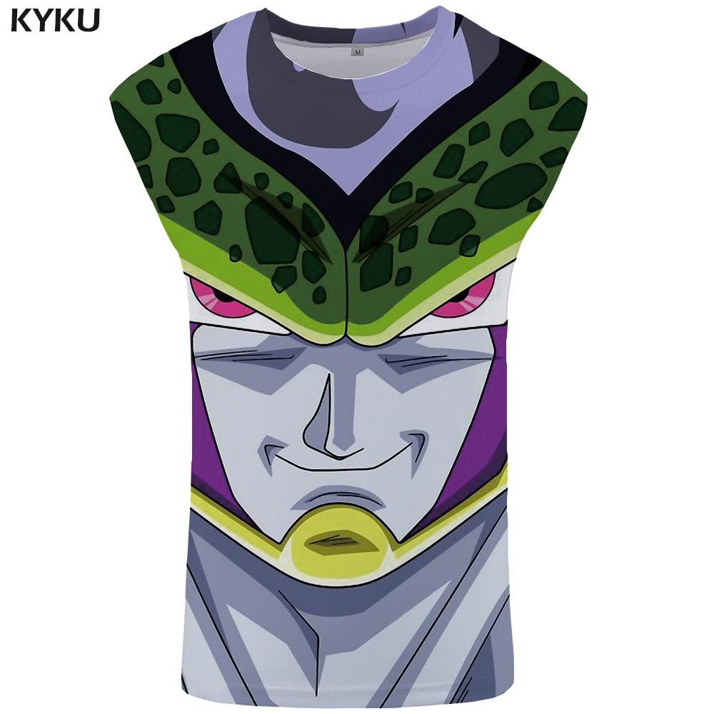KYKU Brand Dragon Ball Z   Tank     Top   Men Bodybuilding Undershirt Ftness Stringer Mens Clothing 2018 Sleeveless Shirt Muscle Vest